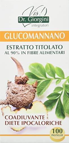 Dr. Giorgini Integratore Alimentare, Monocomponenti Erbe Glucomannano Estratto Titolato al 90% in Fibre Alimentari Pastiglie - 50 g