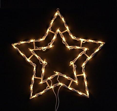 Fensterbild beleuchtet / Lichterkette Stern, m. Saugnapf