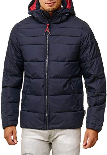 Indicode Herren Philpot Steppjacke Übergangsjacke Jacke mit Kapuze Navy S - 3