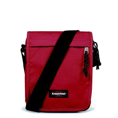 Eastpak Flex Borsa Messenger, 4 Litri, Multicolore (Combo Merlot), 23 cm Rosso (Raw Red)