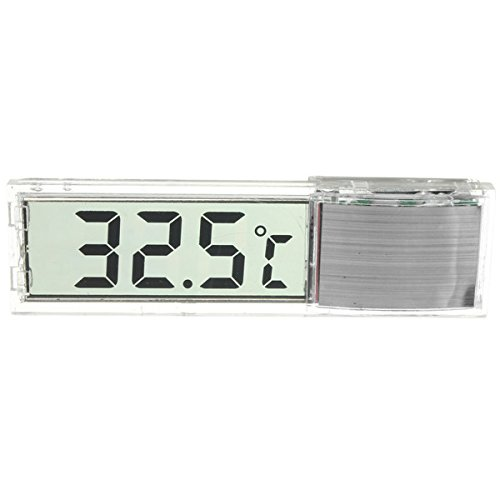 DyNamic 3D Digital Elektronische Aquarium Thermometer Tank Temp Meter - Silber