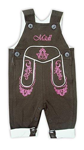 Mädchen Lederhosen Kostüm - Mogo.cc, BLH Babylederhose Mädl, VISO LANG, 80/86, 12-18 Mon. L, Stick pink