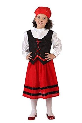 Imagen de disfraz pastora roja niña  único, 7 a 9 años