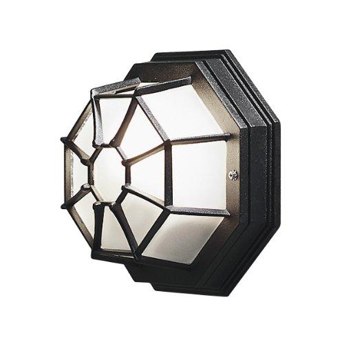 Konstsmide Wand- und Deckenleuchte 7091-750/B: 27cm T: 13cm H: 27cm/1x60W/IP23/lackiertes Aluminium/matt-schwarz