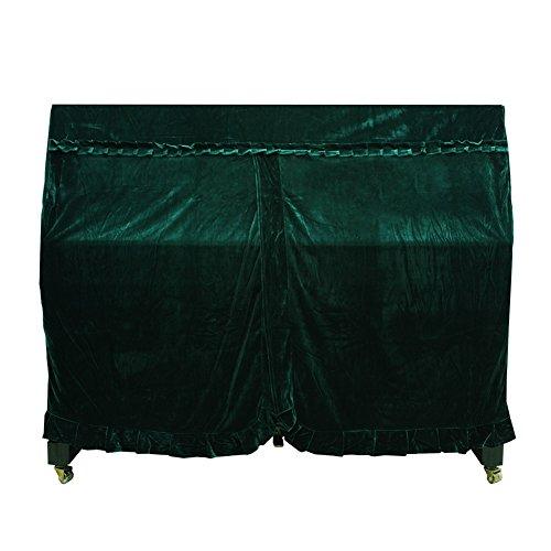 Dilwe Cubierta de Piano Vertical, Colorfast Pleuche Full Piano A Prueba de Polvo Cubierta Decorada(Verde)