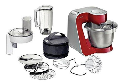Bosch MUM54720 Styline MUM5 - Robot de cocina (900 W, 3,9 L), color rojo