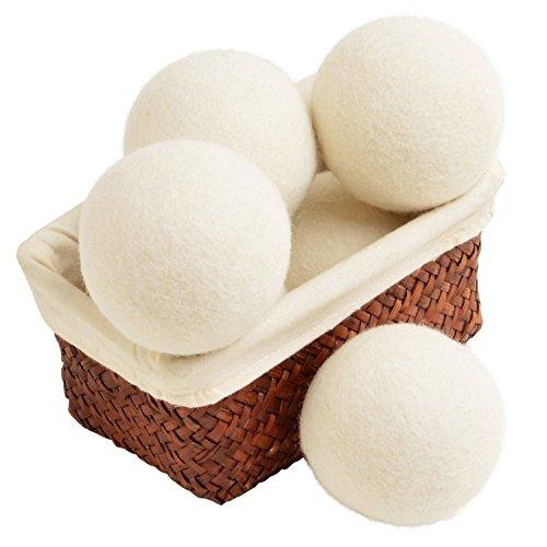 Schaf Wolle Trockner Bälle 6Stück Premium 100% natürliches XL Gewebe
