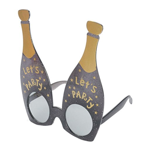 Good Night Schwarze Champagner geformte Sonnenbrille Lustige Gläser stützen für Parteistange