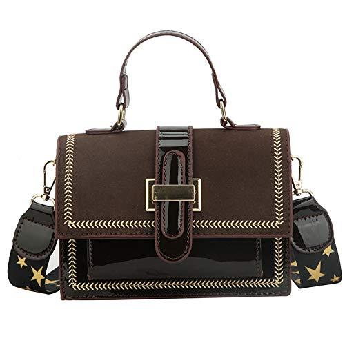 Buckle Flap Bag (HKDUC Kleine Quadratische Tasche Scrub Dreidimensionale Flap Bag Buckle Single Shoulder Diagonal Handtasche)