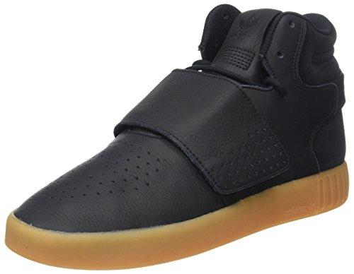 adidas Herren Tubular Invader Strap Hohe Sneaker, Schwarz (Core Black/Gum/Footwear White), 43 1/3 EU