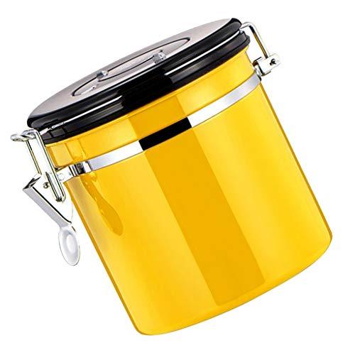 F Fityle Kaffeedose, Kaffeebehälter Edelstahl Vorratsdose, viele Farbe Auswahl - Gelb