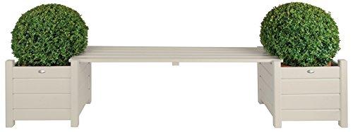 Ponte Esschert design Banca in legno bianco, a circa 188 cm x 40 cm x 40 cm