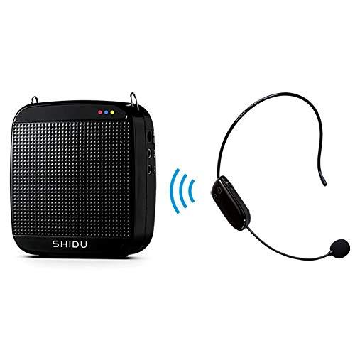rker Stimme 2.4G 18W 7.4V/2200mAh Drahtlose Digital Stimmverstärker mit headset mikrofon für Reiseführer, Lehrer, Trainer, Vorträge, Kostüme, Usw Schwarz ()