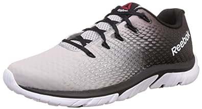 Reebok Men's Zstrike Elite Silver, Black and White Running Shoes - 11 UK