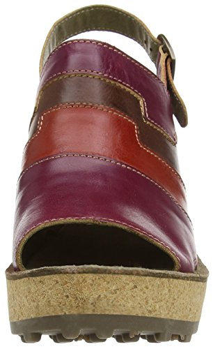 Fly London - Goan642fly, Sandali Donna Rosso (Red (Magenta/Devil Red/Tan))