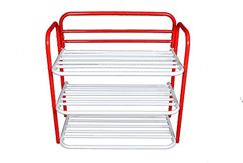 Arrison 3 Tier Folding Shoe Rack Organiser (Metal)