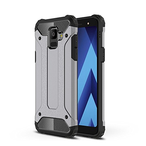 Xujw-it phone case cover custodia, per samsung galaxy a6 (2018), magic armour tpu + custodia a combinazione pc per samsung galaxy a6 (2018) (color : grey)