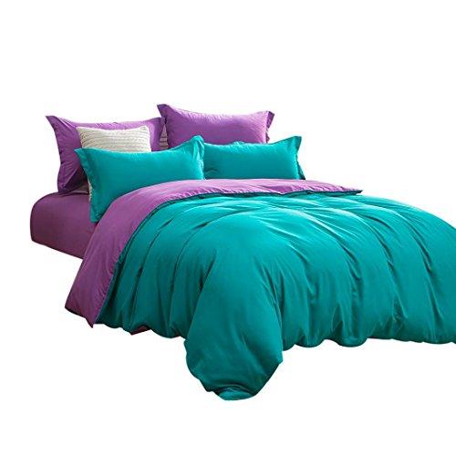 Betten Vier Sets, kaíki 1500Serie Tabelle Betten-Set massiv mehrere Farben Single Twin Full Queen-King, grün, Full Size 4pcs (Deluxe Twin-betten)