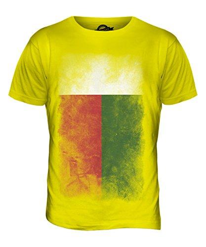 CandyMix Madagaskar Verblichen Flagge Herren T Shirt Zitronengelb