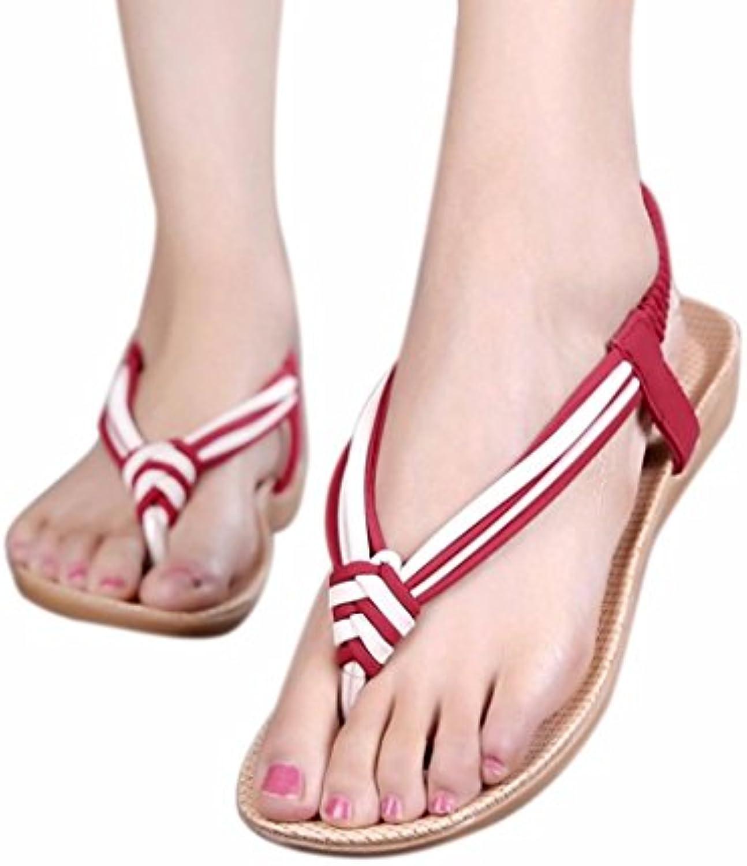 fc4e3cd3071 hunpta Women Women Women Slipper Summer Beaded Bohemian Sandals Beach Shoes  Flat Shoes Parent B06WGRZ1T8 ab47da