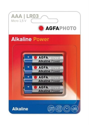 Alkaline Blister Pack (AGFA PHOTO Alkaline AAA Batterie. Blister Packung mit 4.)
