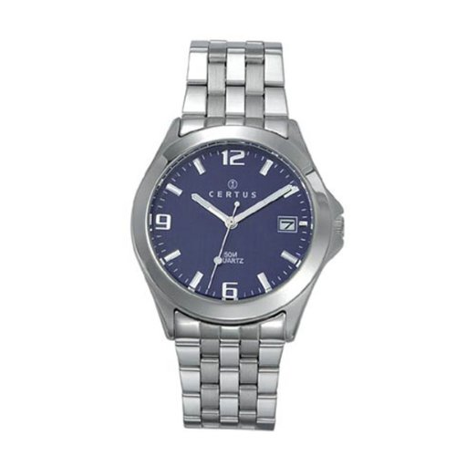 Certus Unisex Analogue Watch with Money Dial Analogue Display and Stainless steel plated gun metal - 615207