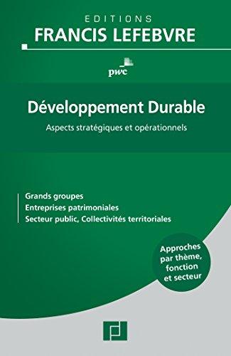 Développement Durable: Aspects stratég...