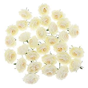 PETSOLA 30pcs Cabeceras De Flores De Camelia De Seda Artificial A Granel Boda Floral Suministros De Pared – Gris Morado