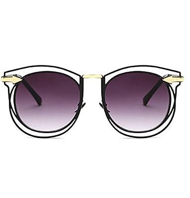 MYLL Koreanische Version Hohle Metallrahmen Damen-Sonnenbrillen Qualität Echt Film Bunte Gläser
