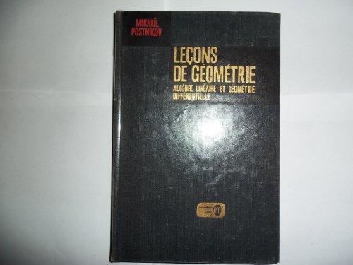 Leçons de géométrie - 2eme semestre - Algèbre linéaire et géométrie différentielle