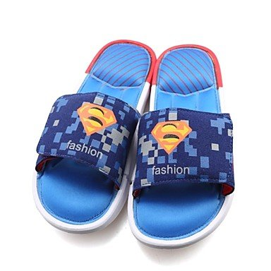 Sandales hommes d'été occasionnels pantoufles/Beach/Home Fashion-héros Marvel Chaussons Multicolor Bleu royal