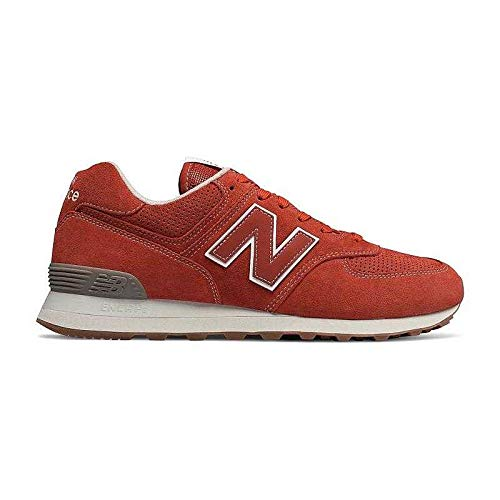 New balance scarpe sneakers uomo rosso ml574esh