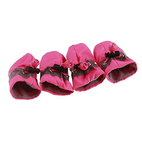 Macxy - Hundesocken-Winter-Schuhe Regen Schnee Wasserdicht Booties Socken Pfotenpflege Anti-Rutsch-Schuhe für kleinen Hund Puppies Schuhe Hundezubehör [1 Pink] - Regen-socken Hund