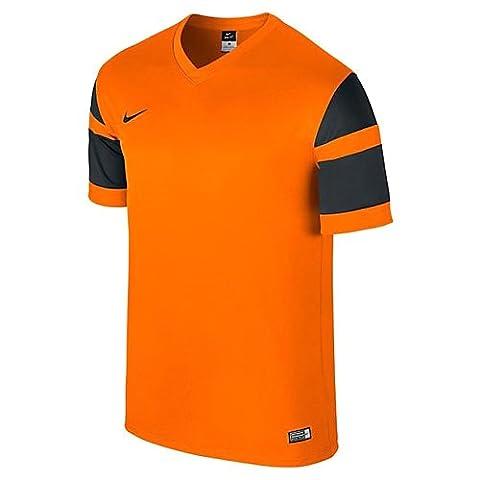 Nike t-shirt manches courtes - Trophy iI yth veste en jersey - Multicolore (Safety Orange/Black/Safety Orange/Black) - Taille : L