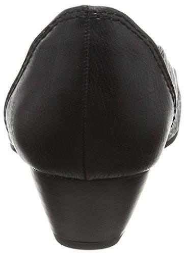 Marco Tozzi 22303, Sandales Bout Ouvert Femme Noir (BLACK ANTIC 002)