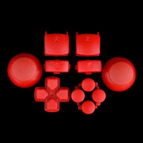 Sticks und Tasten Set/Mod Kit passend für PS3® Controller - rot - Ps3 Controller Teile-kit