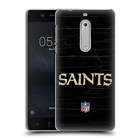 Officiel NFL Affligé New Orleans Saints Logo Étui Coque D'Arrière Rigide Pour Nokia 5