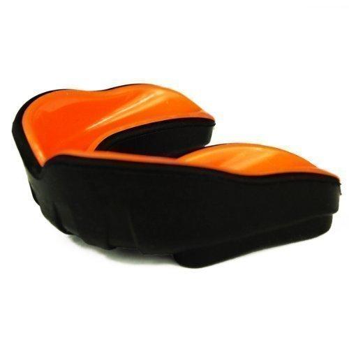 Mundschutz – Single, Geleinlage, orange/schwarz, Senior