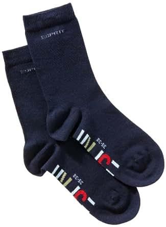 ESPRIT Unisex Kinder Socken 19041 Foot Logo SO, Doppelpack , Gr. 35/ 38, Blau(marine 6120)
