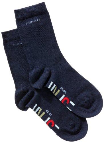 ESPRIT Unisex Kinder Socken 19041 Foot Logo SO, Doppelpack, Gr. 35/38, Blau(marine 6120) (Kinder-logo-socken)