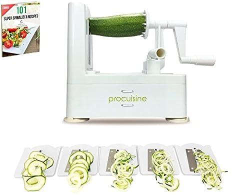 Paniers Legumes - Spiraliseur ProCuisine 5-lames avec un ebook de