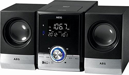 Bluetooth Stereoanlage Kompaktanlage USB-Port AUX-IN CD/MP3 Radio Musikanlage Wecker (Fernbedienung + LCD-Display)