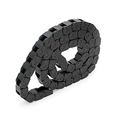 [ JBS basics ] Energiekette Schleppkette Kabelführung [ 10x10 / 10x20 / 15x30 / 15x40 ] R28 CNC 3D Drucker [ 100 cm / 1 Meter ] Plastik Drag Chain incl. Endstücke 10mm 15mm 30mm 45mm (10x10 mm)