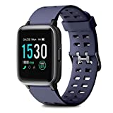 HOMVILLA Montre Connectée, Smartwatch Bracelet Connecté Cardio Etanche IP68 Montre Intelligente Cardiofrequencemetre Podometre Homme Femme Enfant Android iOS pour iPhone Huawei Samsung Xiaomi Sony