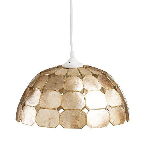 Lámpara de Techo de nácar Dorada de Comedor Vintage para salón Sol Naciente - LOLAhome