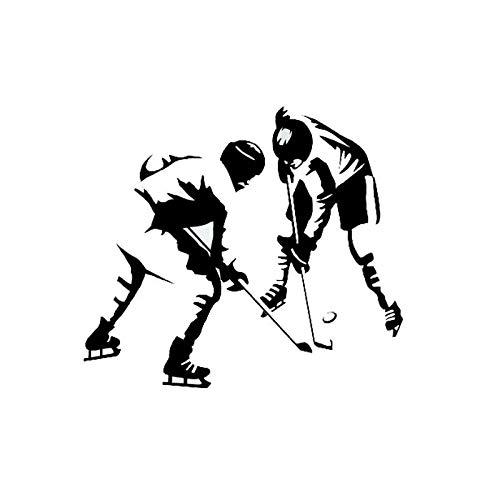 amayituo Sport Hockey Spiel Lichtschalter Aufkleber Dekor Tür Wandtattoo 5WS0462 @ Blacklight Schalter Vinyl Aufkleber (Spiel Lichtschalter)