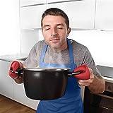368° inspiration Ofenhandschuh 1 para Silikon Küche Hummer Garnelenzangen Form Wärme Topf Clips Mikrowelle Handschuhe Kochplatte Clip Topflappen Küche Werkzeug (Color : Rot)
