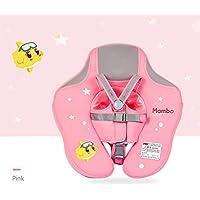 BMDHA Niños Anillo De Natación Piscina Asiento Evitar Volcadura Nadar Ropa De Seguridad Ligera Flotabilidad Súper Fuerte (Bebé 6-36 Meses, No Necesita Inflable),Pink