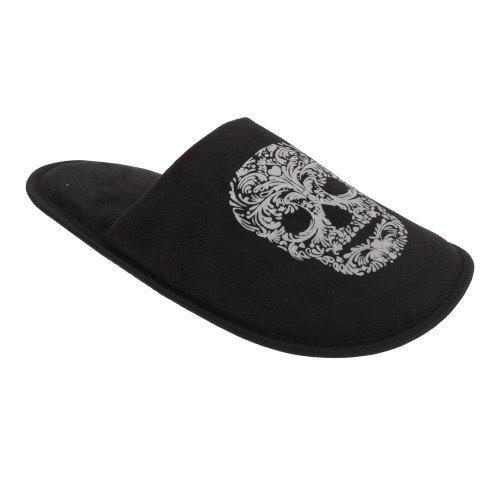 Slumberzz - Zapatillas con diseño de calavera o esqueleto para...