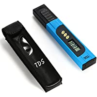 Xcellent Global TDS-3 Medidor TDS Digital de mano (batería incluida) con retro iluminada LCD para Pruebas de Calidad de Agua, Rango de medición de 0 a 9.990 ppm TDS, Resolución 1 ppm , Exactitud de Lectura de +/- 2%, Azul HG077